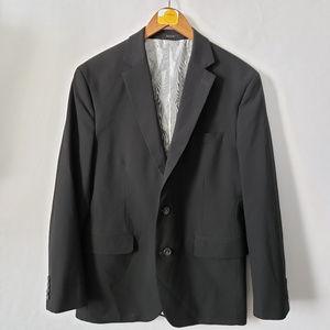 J. Ferrar Mens Blazer Sportscoat 2 Button Black